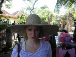 Colette's fabulous new hat from Sanur...