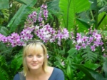 colette among the orchids.
